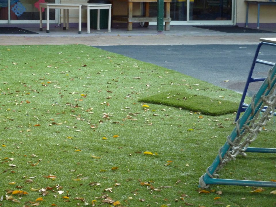 Graceville Kindy Redevelopment - Close-up of Synthetic Turf