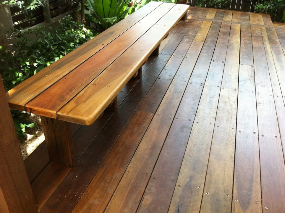 Bulimba - Timber seat attached to pergola