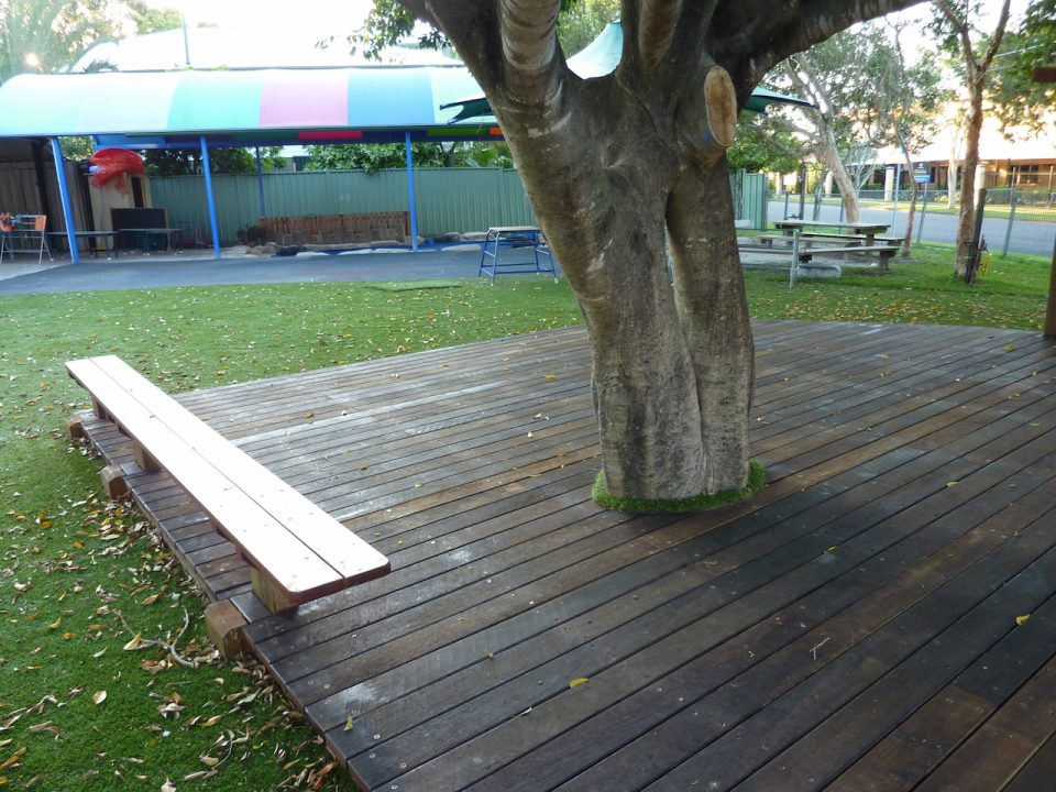 Graceville Kindy Redevelopment - Overall shot of new Playground