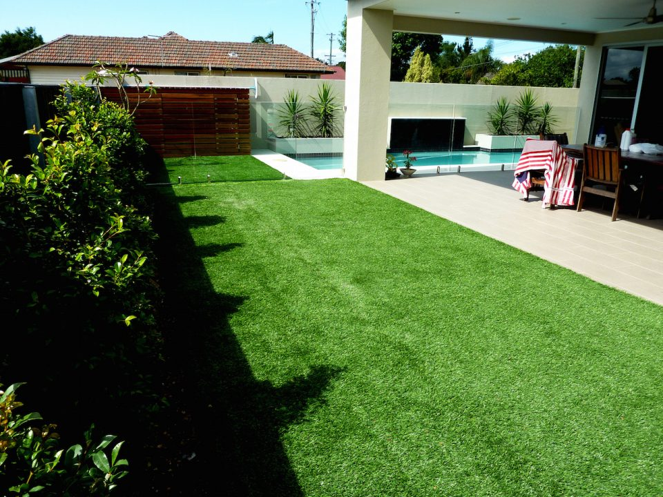 Bardon Rear completed showing Artificial Grass