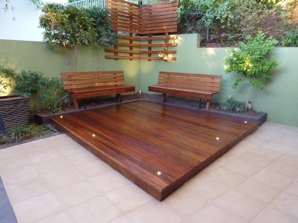 Windsor Rear garden Refurb completed with decking, seats and lights