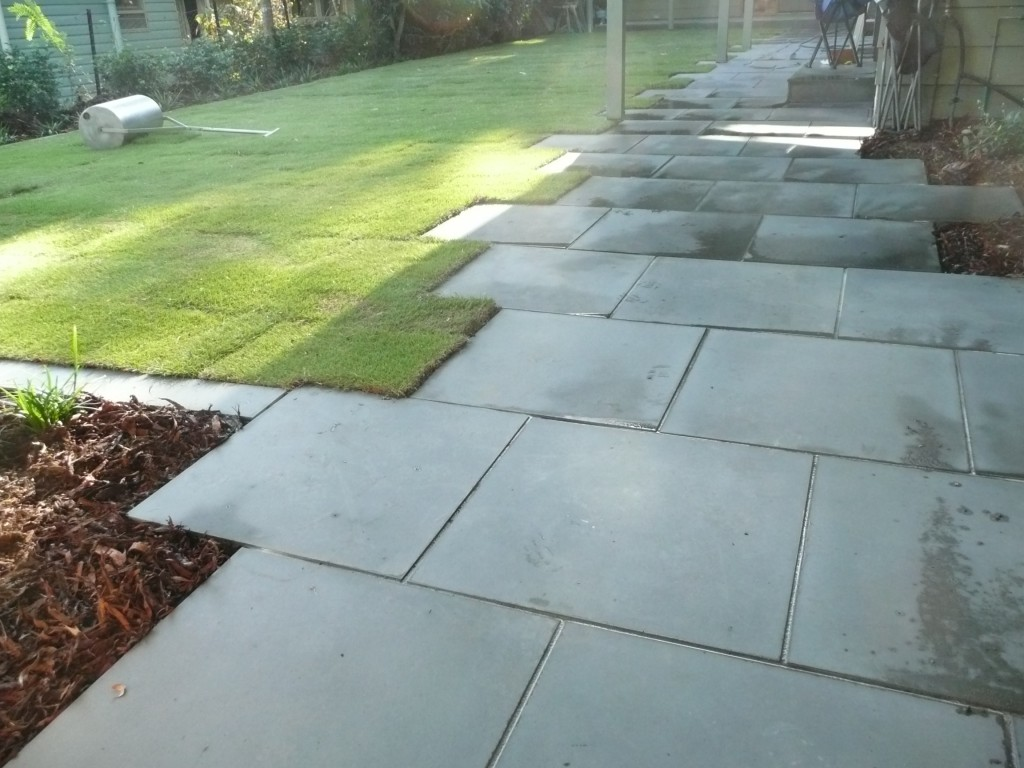 St Lucia Front Entrance path stone tiling