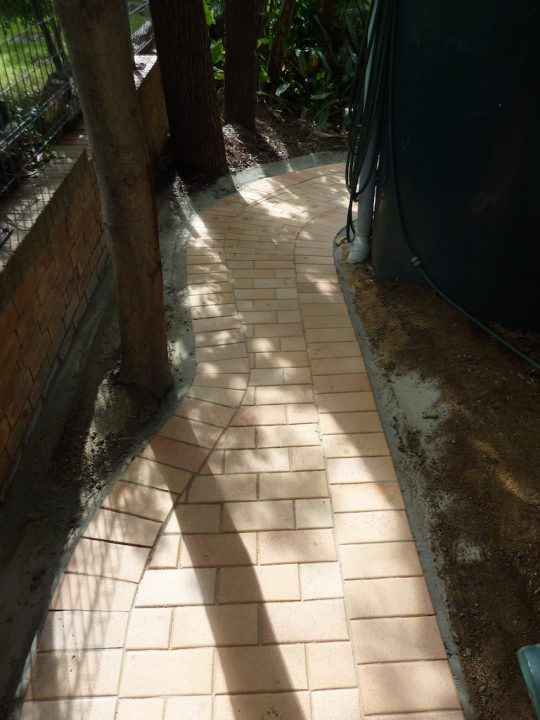 St. Lucia Front Yard Redesign - Side Path paving detail