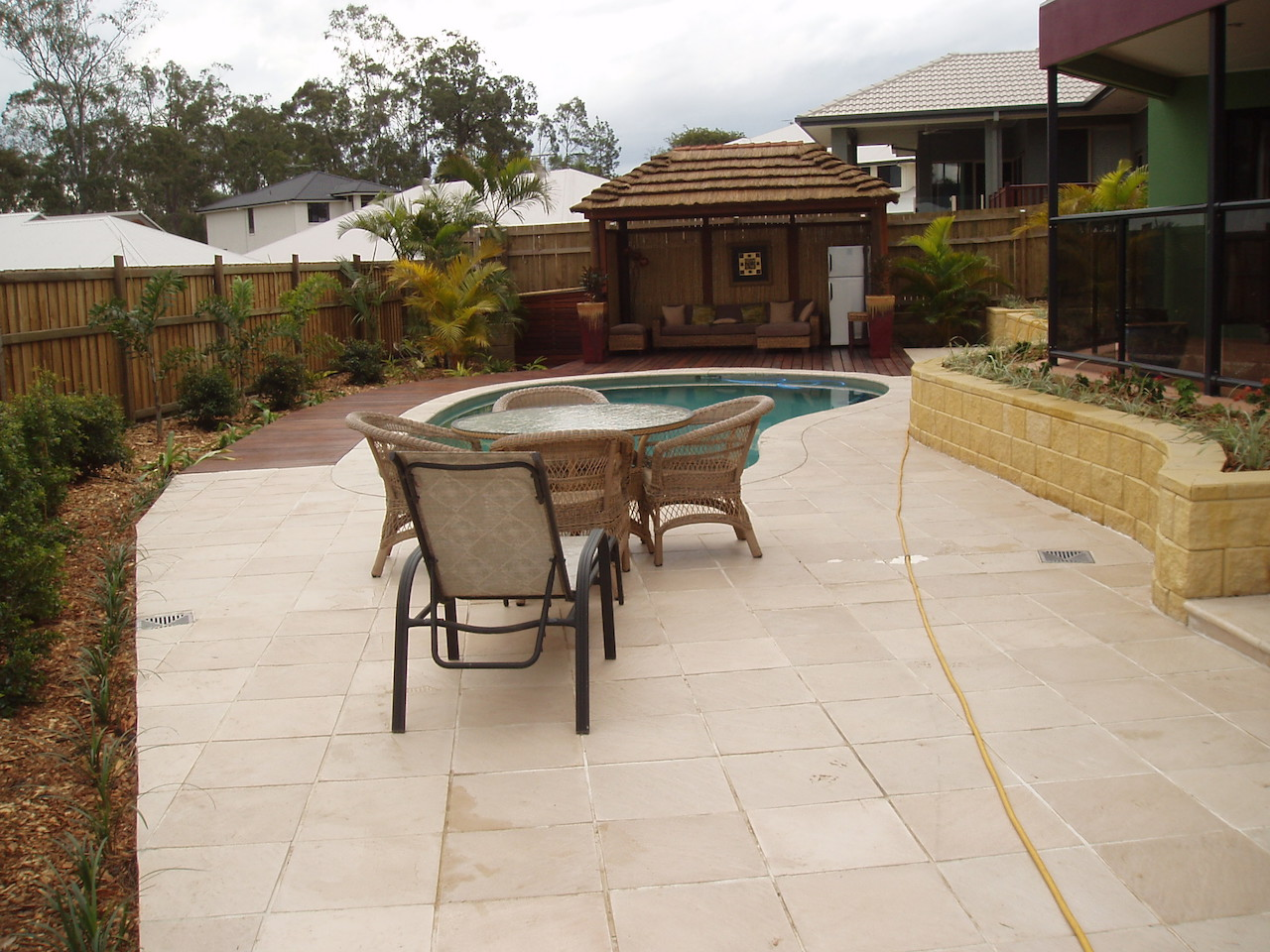 Landscape Construction - Wakerly Pool retreat